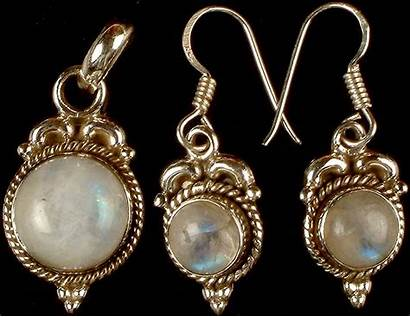 Moonstone Rainbow Earrings Pendant Jewelry