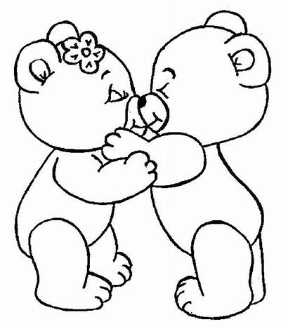Coloring Pages Bear Kisses