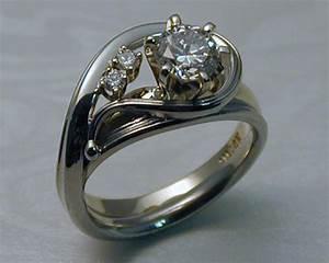unique handcrafted engagement ring enhancer set With unique wedding ring enhancers