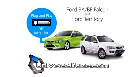 ba bf falcon or ford territory audio unit unit installation kit