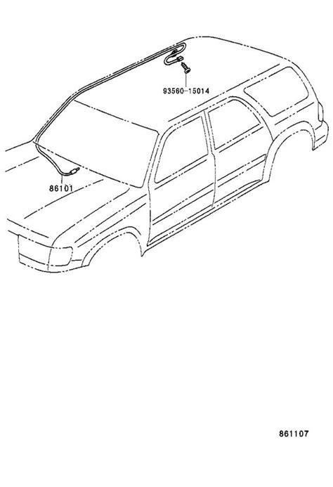 Toyota 4Runner Radio Antenna Mast. Antenna, with Holder