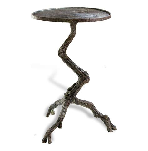 tree branch table l steamboat tree branch modern rustic side table kathy kuo