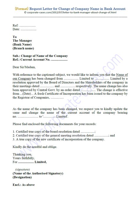 My salary account is changed and i need to inform my head office. Request Letter for Change of Company Name in Bank Account