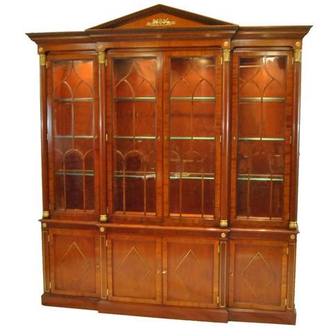 White Breakfront China Cabinet by 100 White Breakfront China Cabinet Breakfront China