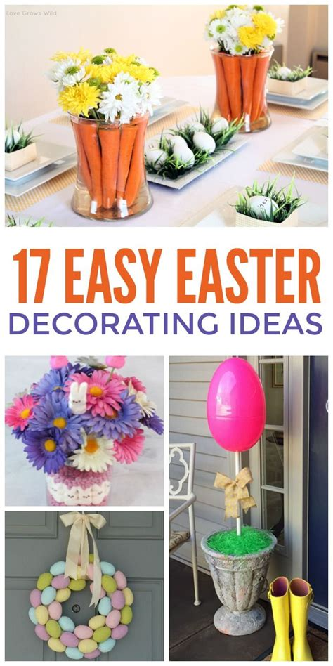 easiest  easter decorating ideas  crazy house