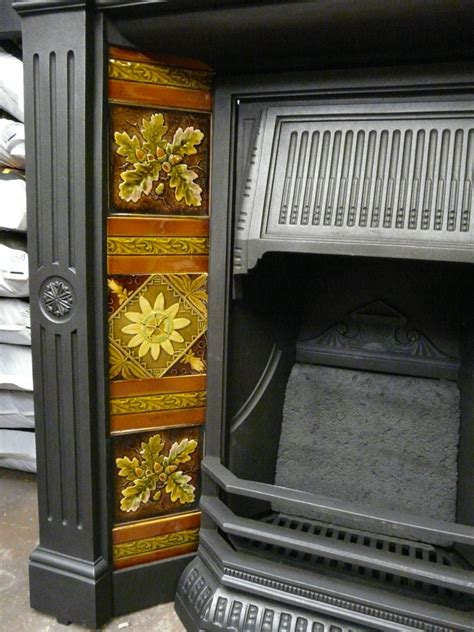 late victorian tiled combination fireplace tc
