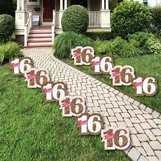 Sweet 16  Sweet Sixteen Lawn Decorations  Outdoor