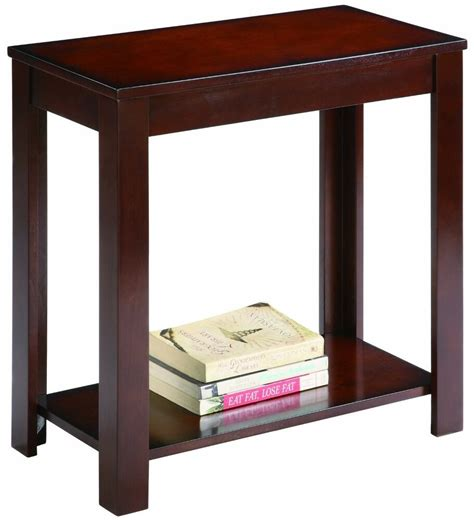 wood  table coffee sofa side accent shelf living room furniture stand brown ebay