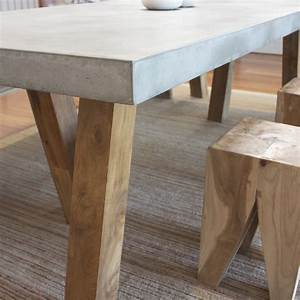 OBI Recycled Teak and Concrete dining table The Block Shop