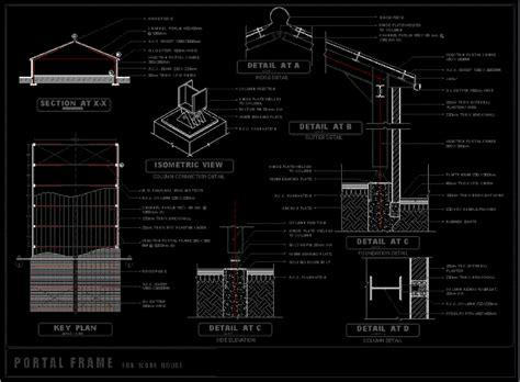 metal shed dwg detail  autocad designs cad