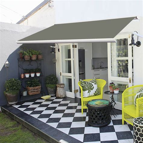full cassette electric patio garden awnings sun shade canopy retractable shelter ebay