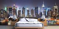 excellent city wall mural New York Wallpaper Murals Decor on Bedroom Ideas | Theme ...