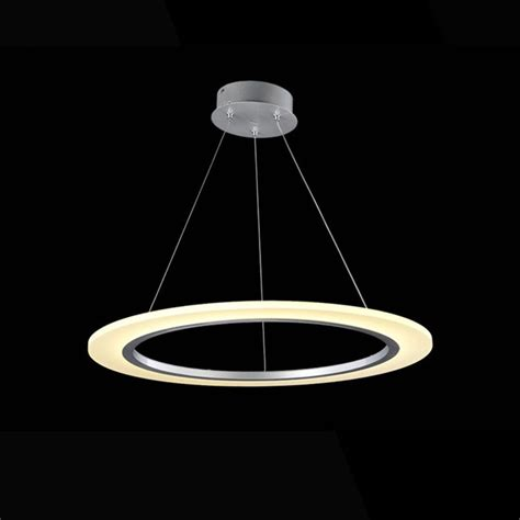 ring led pendant light modern hanging lights ls