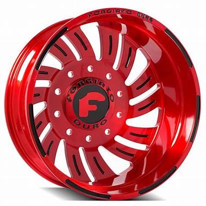 Dually Wheels Forgiato Turbinata Finish Tires Butler