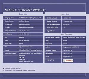 Swot Template Excel Download A Free Company Profile Template Formfactory