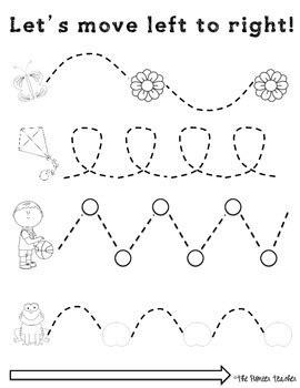 left   tracing worksheets fine motor skills