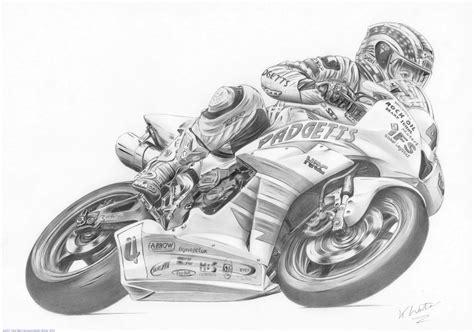 Drawn Motorcycle Pencil Sketch