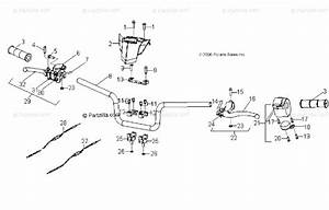 Polaris Atv 2008 Oem Parts Diagram For Steering  Handlebar