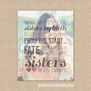 Sisters by heart Best Friend Birthday Gift Best Friend Gift
