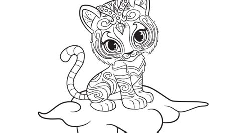 shimmer  shine nahal colouring page