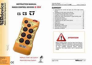 Remdevice S R L Tx2g4t7 Remote Control User Manual