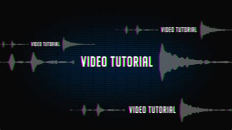after effects template sound react glitch logo intro spectrum audio youtube