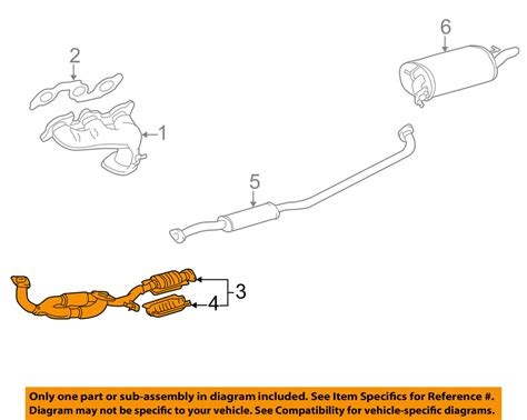 Toyota Oem Camry Exhaust System Front Pipe