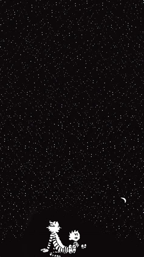 Calvin And Hobbes Wall Paper Freeios7 Calvin And Hobbes Starry Night Parallax Hd Iphone Ipad Wallpaper