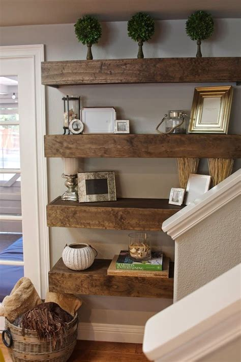 Ideas For Living Room Shelves by How To Hang Floating Shelves On Drywall Without Putting