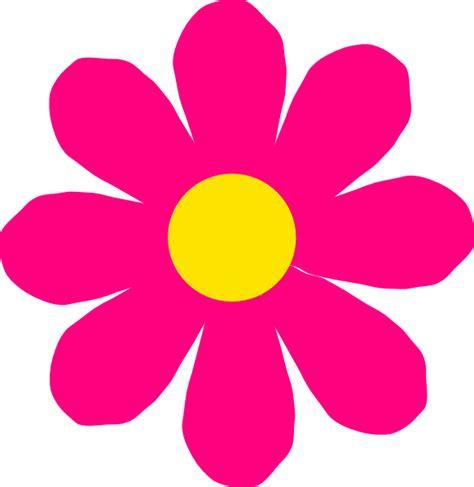flower clipart bright pink flower clip at clker vector clip