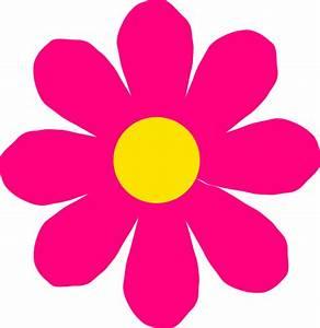 Bright Pink Flower Clip Art at Clker com - vector clip art