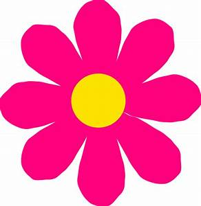 Bright Pink Flower Clip Art at Clker.com - vector clip art ...