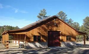 The tough open span pole barns colorado loves for Barn kits colorado