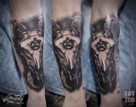 ram skull tattoo  arm  tattoo ideas gallery