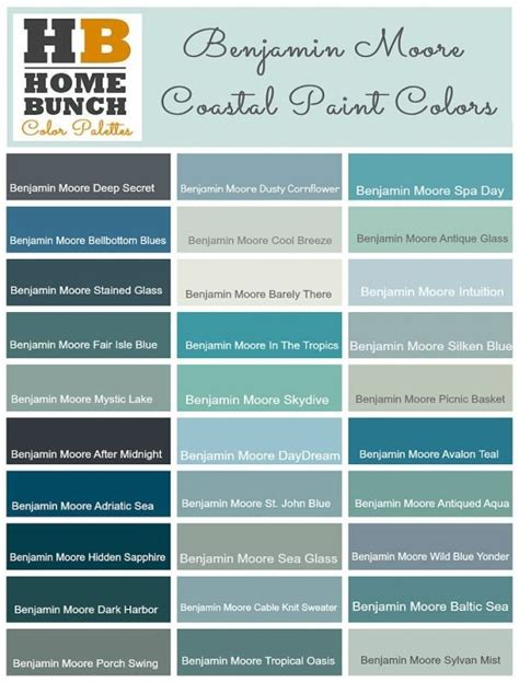 coastal paint colors by benjamin coastal home