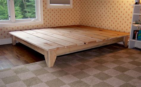 woodworking king size platform bed plans
