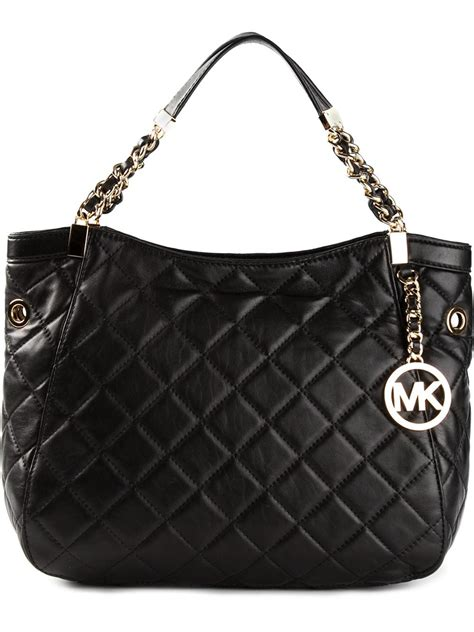 michael kors quilted bag michael michael kors susannah quilted tote in black lyst