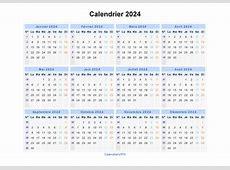 Calendrier 2024 à imprimer gratuit en PDF et Excel