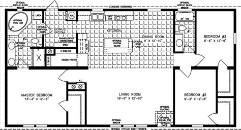 Mobile Home Floor Plans 1200 Sq Ft 3-bedroom Mobile Home
