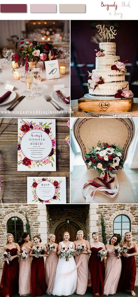 stunning fall winter wedding color combos
