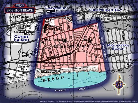 neighborhood borders map  brighton beach  brooklyn