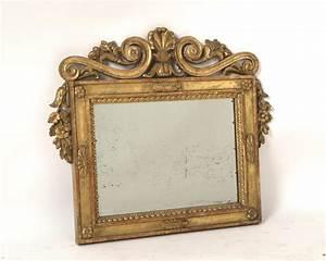Miroir Doré Rectangulaire : miroir anglais rectangulaire en bois dor de style baroque ~ Teatrodelosmanantiales.com Idées de Décoration