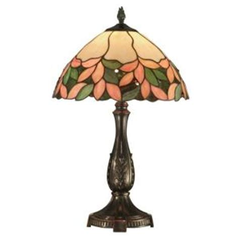 dale tiffany crystal leaf 23 in antique bronze table l