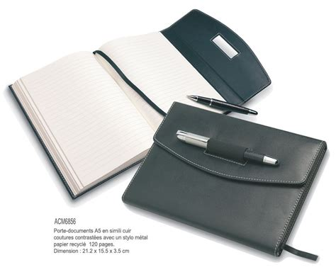 porte document de bureau articles de bureau bloc notes objets promotionnels aic