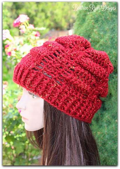 Crochet Slouchy Hat September Jewel Pattern Patterns