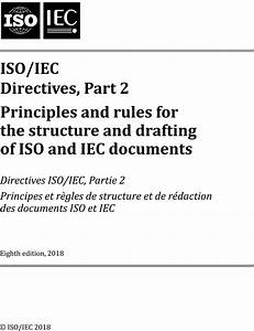 Iso  Iec Directives  Part 2  U2014 Principles And Rules For The