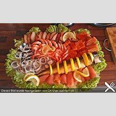 Kalte Fischplatte Für Das Büfett Buffet