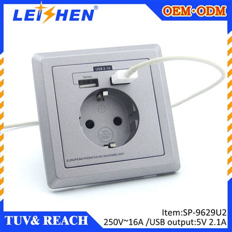 adaptateur prise tv murale wholesale european standard usb wall socket with tuv certification 250v 16a and germany 2