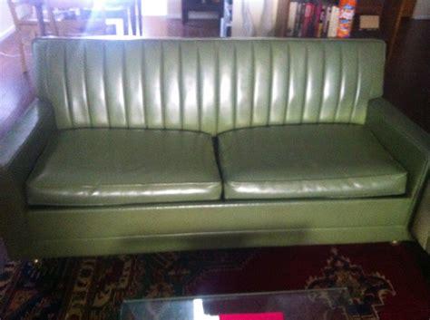 green leather sleeper sofa value inquiry 1966 kroehler green leather sleeper sofa