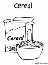 Cereal Coloring Pages Drawing Clipart Box Printable Bowl Oatmeal Template Oats Cornflakes Open Drawings Webstockreview Sketch Getcolorings Getdrawings Paintingvalley Google sketch template